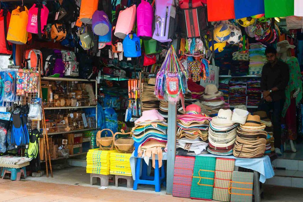 souvenirs market khao lak thailand