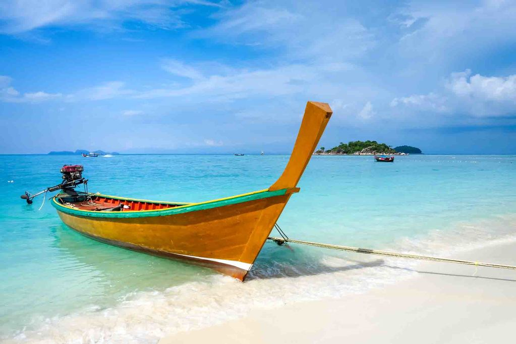 Long tail boat in Koh Lipe, Thailand